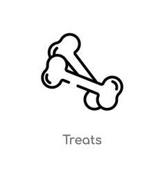 Outline treats icon isolated black simple line vector