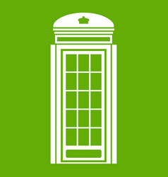 phone booth icon green vector image