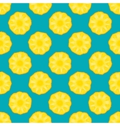 Pineapple seamless pattern blue background vector