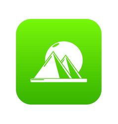 pyramid egypt icon green vector image