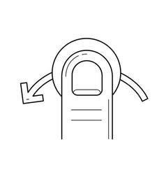 Quick swipe left line icon vector