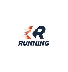 R for run logo running logo vector