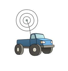 rc car vector image
