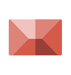 Red flat icon message envelope object vector