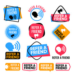Refer a friend referral friends shopping vector