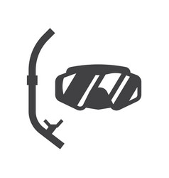 scuba diving mask vector image