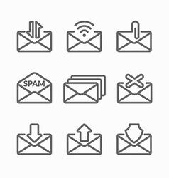 Set E-mail icons vector