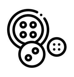 sewing buttons icon outline vector image