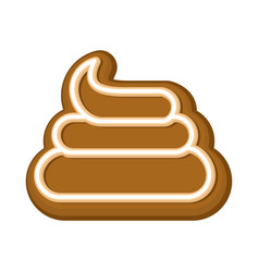 shit cookie cookies turd for halloween vector image