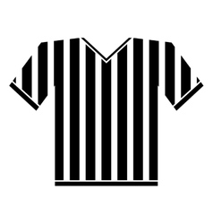silhouette jersey referee american football vector image