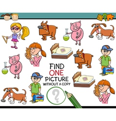 Single picture game cartoon vector
