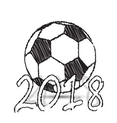 sketch football ball vector image