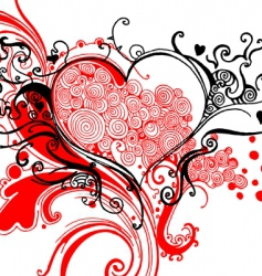 sketchy heart graphic vector image