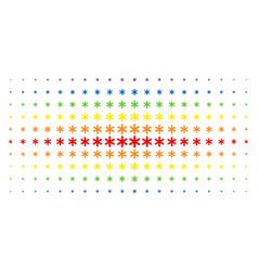 Snowflake spectral halftone array vector