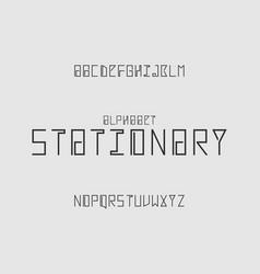 Stationary alphabet vector