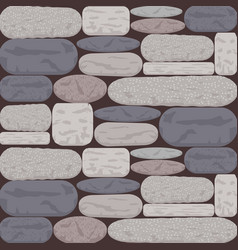 Stoned wall background in shades of grey and rose vector