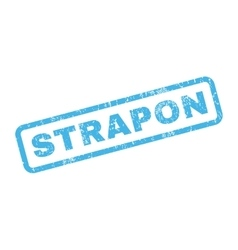 Strapon Rubber Stamp vector