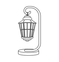 street lights in retro style lamppost single icon vector image