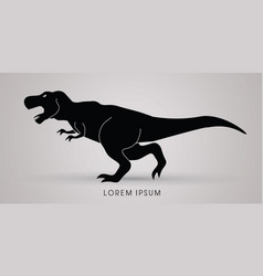 T rex dinosaur graphic vector