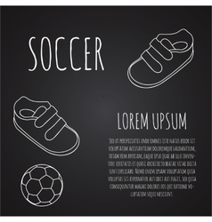 Template for advertising brochure with a sneakers vector image