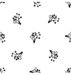 Three spiky palm trees pattern seamless black vector
