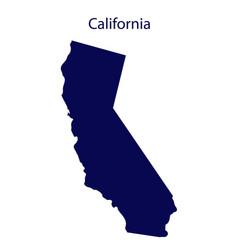 united states california dark blue silhouette of vector image