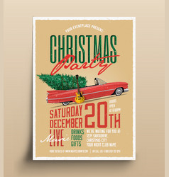 vintage styled christmas party vector image