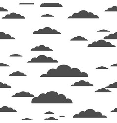 black cloud on white background seamless pattern vector image vector image