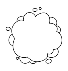 Explosion icon in outline style isolated on white vector image