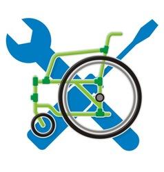wheelchair service vector image vector image