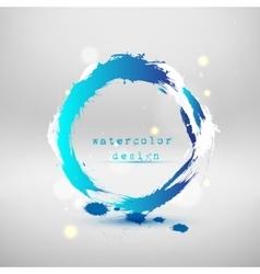abstract blue circle vector image