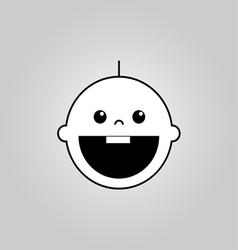 Baby smile icon vector image vector image