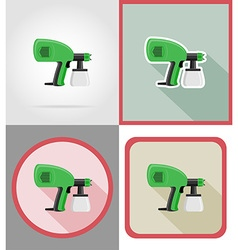 electric repair tools flat icons 08 vector image vector image