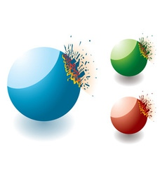 exploding stones vector image vector image
