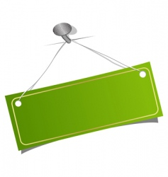 green label on a nail vector image