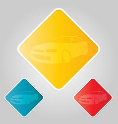 race car drifting vector image vector image