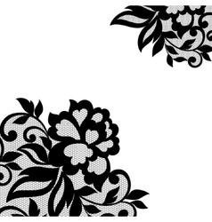 Black flower lace ornament vector image vector image