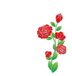Flower on white background vector