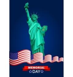 Patriotic United States of America vector image
