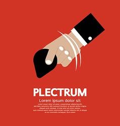 Plectrum In Hand vector image vector image