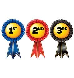 Prize tag in three color vector image vector image