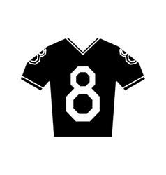 silhouette jersey american football tshirt uniform vector image