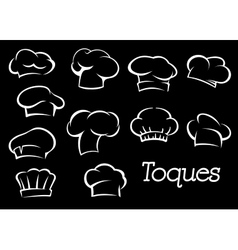 Chef toques and hats set vector image vector image