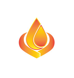fire flame logo design vector image