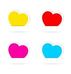 Heart frames vector image vector image