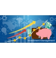Long Background Investment Management vector image vector image