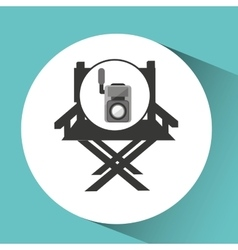 movie video camera director chair vector image