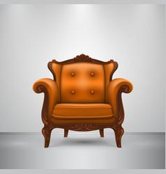 retro chair orange vector image