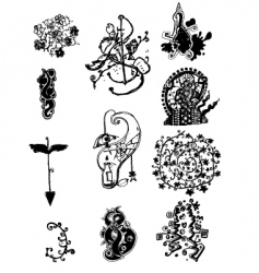 tattoo art doodle vector image