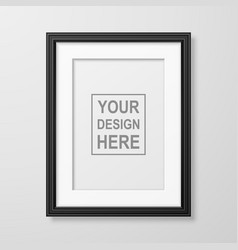 3d realistic a4 black wooden simple modern vector image